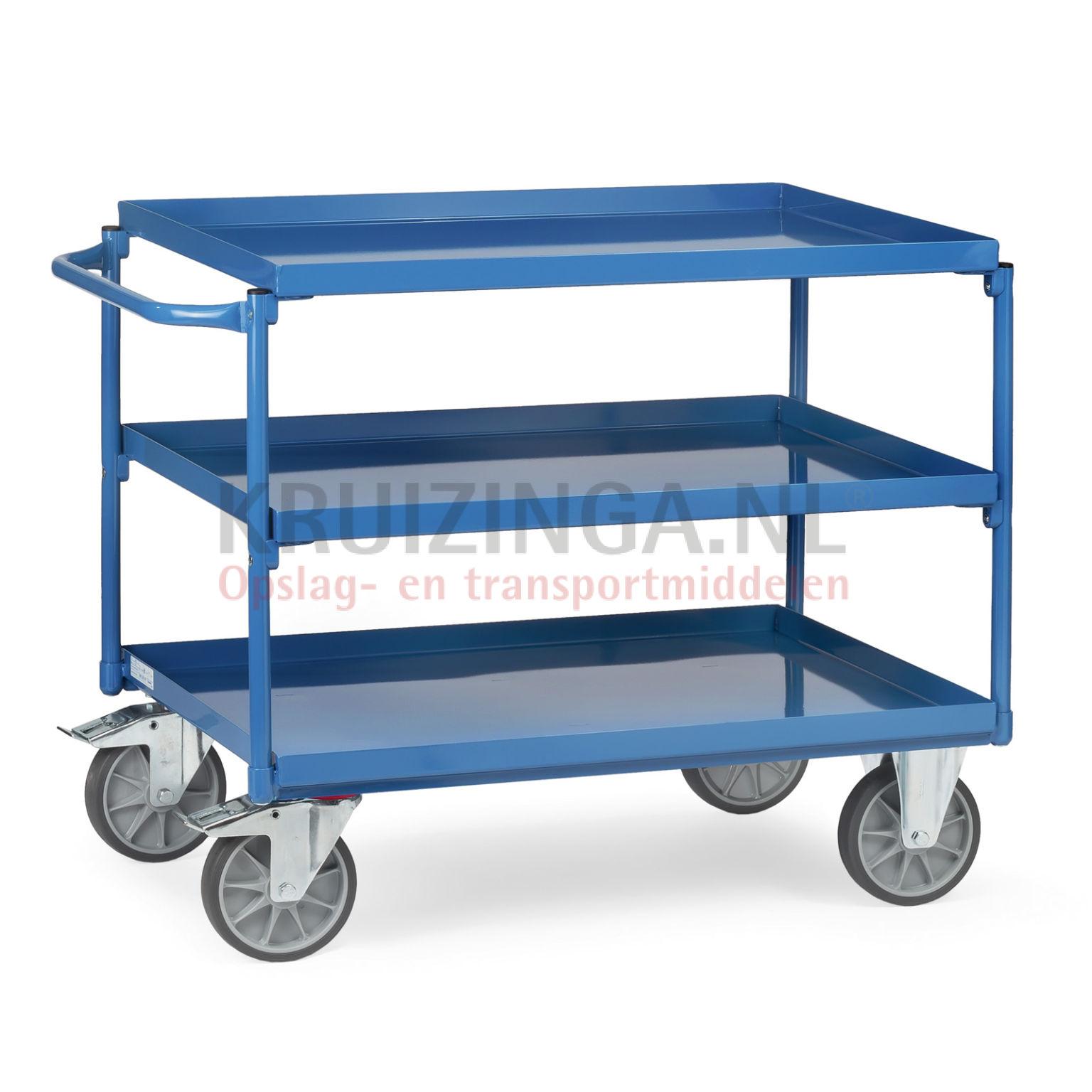 chariot plateaux chariot de manutention chariot avec des tages en acier plate forme de. Black Bedroom Furniture Sets. Home Design Ideas