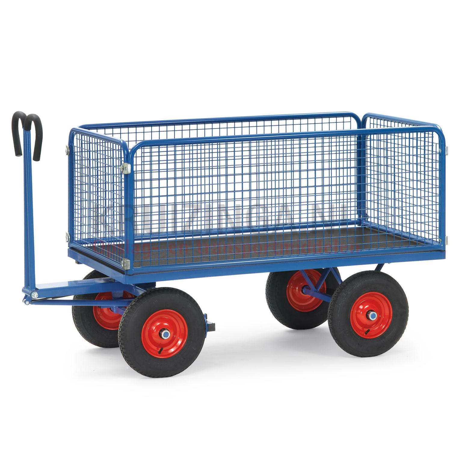 chariot transport chariot bras avec 4 parois grillag. Black Bedroom Furniture Sets. Home Design Ideas