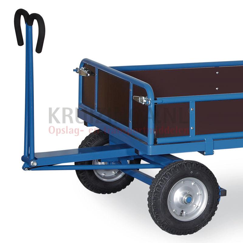 Chariot Transport Bois - Chariot Transport Chariotà bras avec 4 parois en bois Kruizinga fr