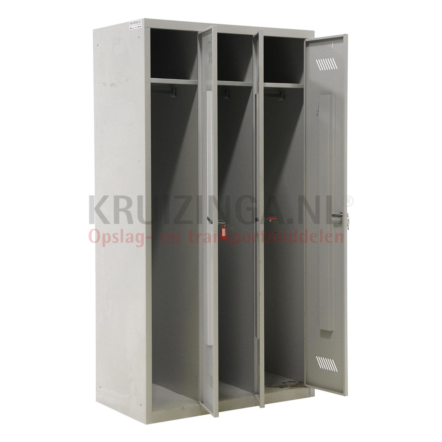 Schrank schlie fachschrank 3 t ren zylinderschloss for Schrank gebraucht