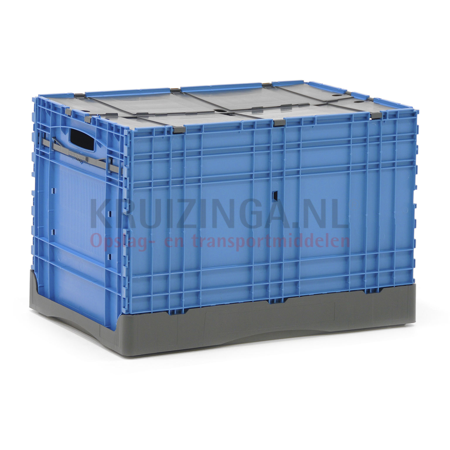 bac de rangement plastique gerbable et pliable avec couvercle double partir de 20 50 frais. Black Bedroom Furniture Sets. Home Design Ideas