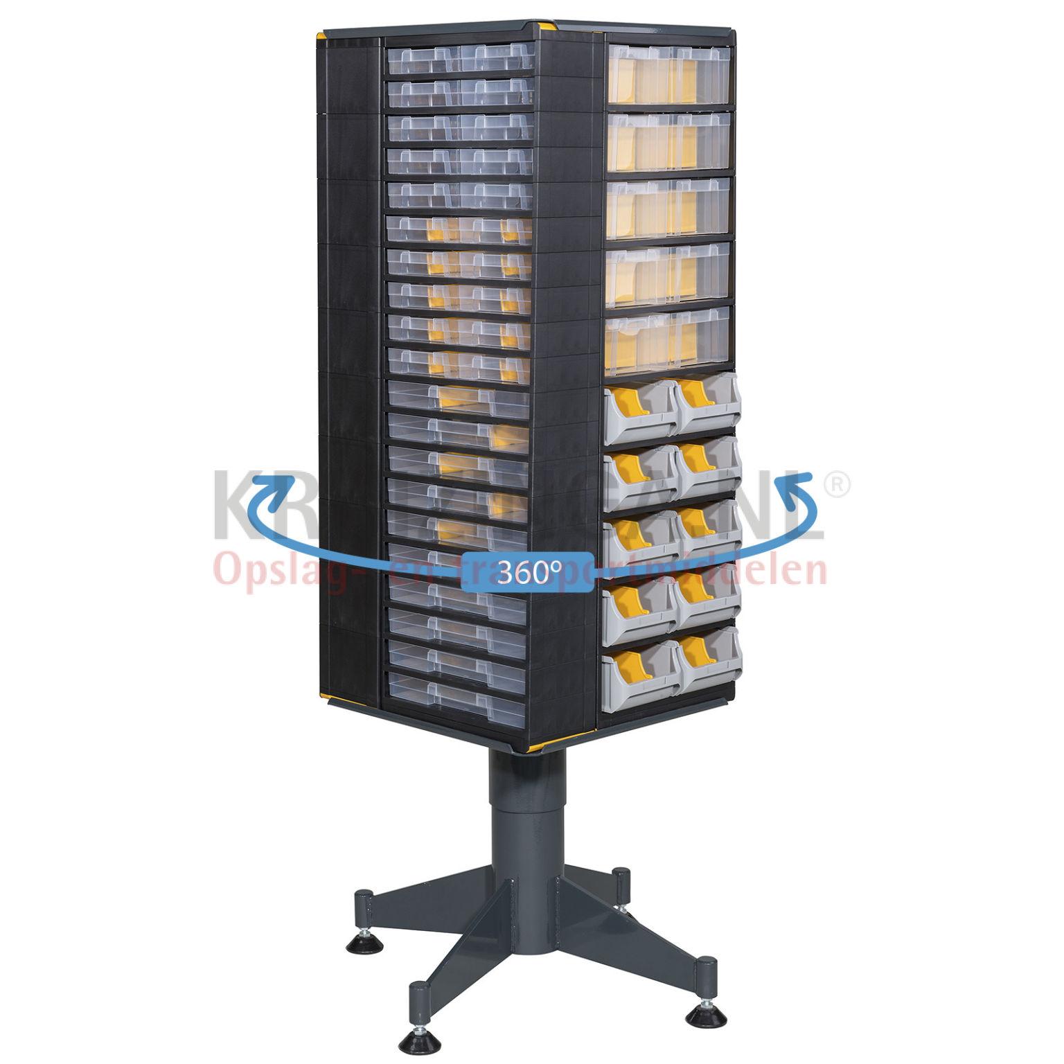 bac a bec en plastique colonne de rangement pivotante quipe de 160 tiroirs partir de 586 75. Black Bedroom Furniture Sets. Home Design Ideas