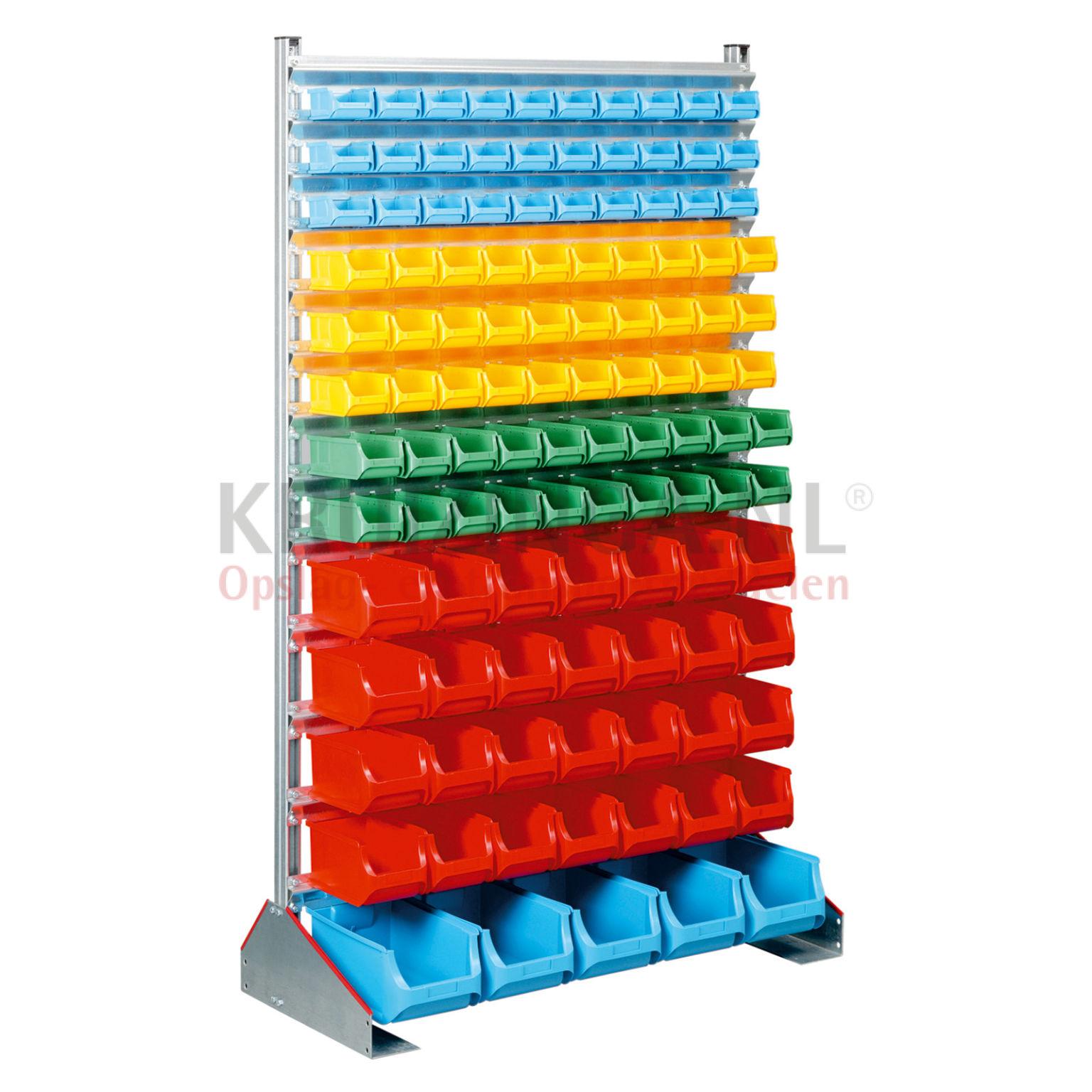 bac a bec en plastique rack fixe incl 113 bacs de magasin partir de 474 frais de. Black Bedroom Furniture Sets. Home Design Ideas