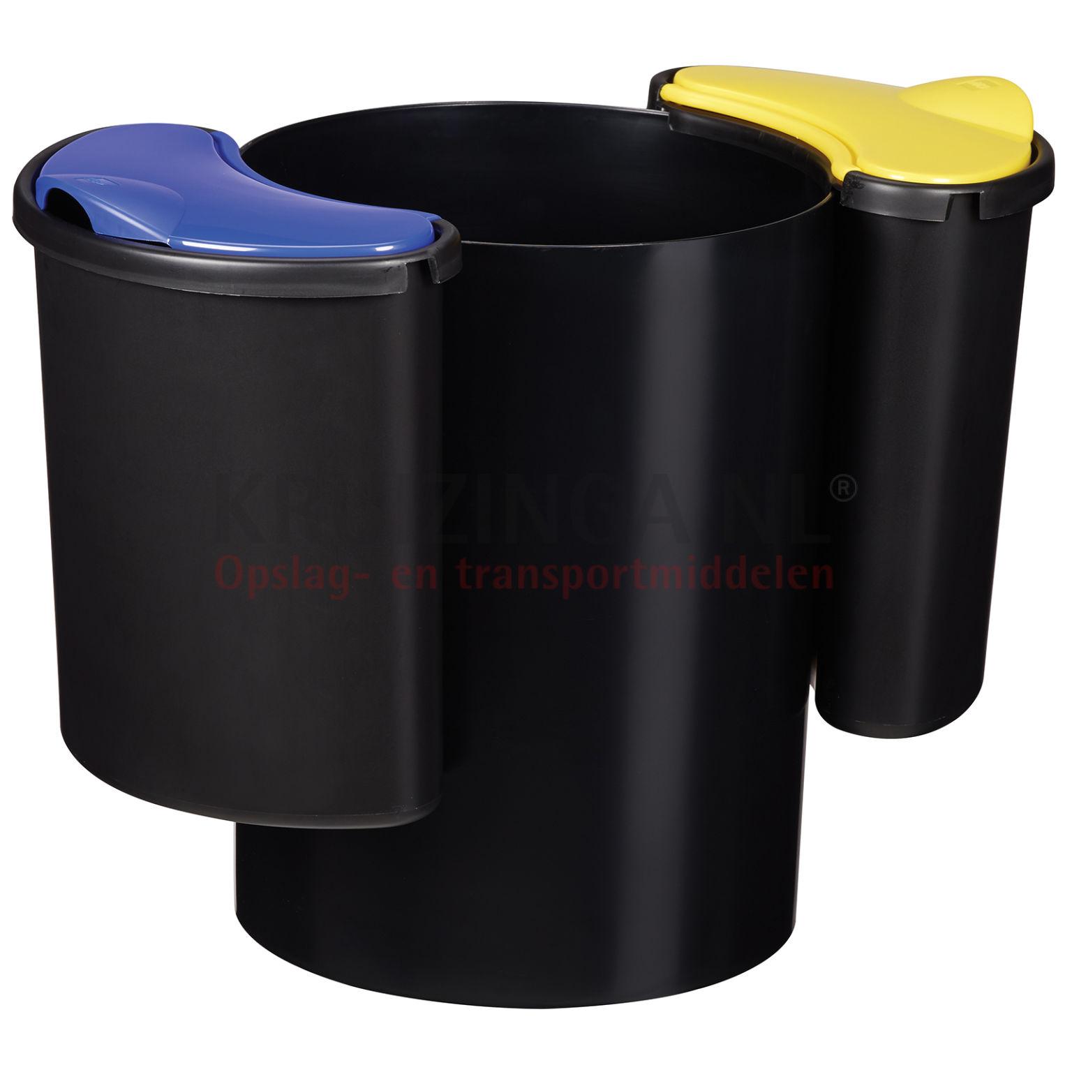 poubelle d chets et hygi ne poubelle en plastique avec 2 modulable compartiments partir de. Black Bedroom Furniture Sets. Home Design Ideas