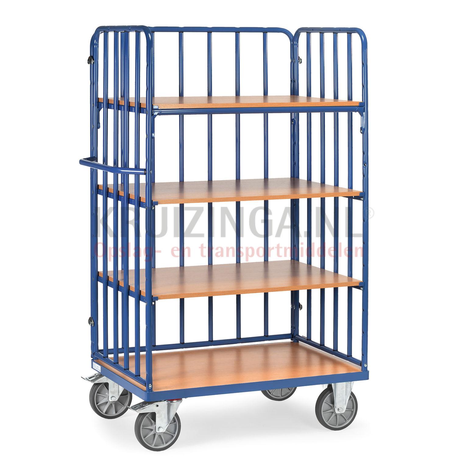 chariots plateaux chariot de manutention chariot plateaux 2 parois et 1 paroi arri re 515. Black Bedroom Furniture Sets. Home Design Ideas