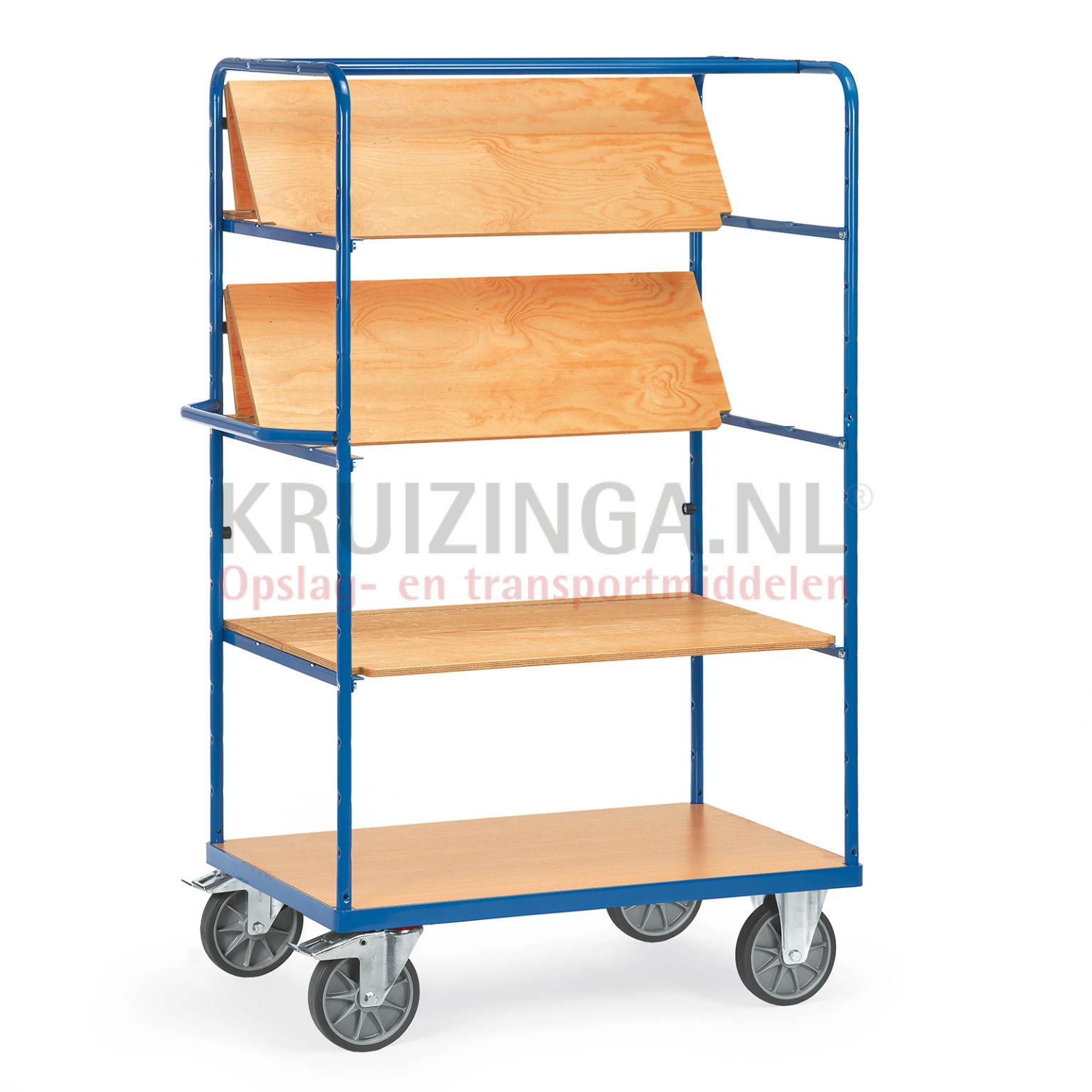 chariots plateaux chariot de manutention chariot plateaux 2 parois lat rales ouvertes 3. Black Bedroom Furniture Sets. Home Design Ideas