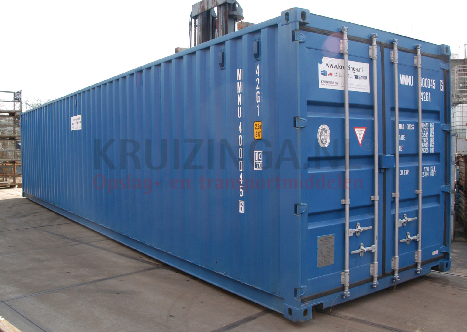 container materialcontainer 40 fu gebraucht 3250. Black Bedroom Furniture Sets. Home Design Ideas