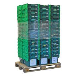 Bac de rangement plastique palettes-en-promotion emboitables 99-7593GB-N-PAL