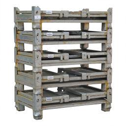 Bac de rangement acier gerbable et pliable en promotion 99-9068GB